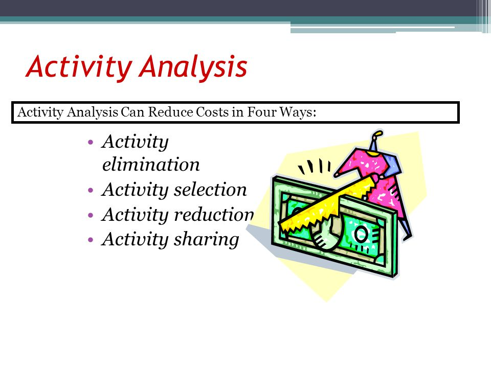 Activity Analysis Activity elimination Activity selection