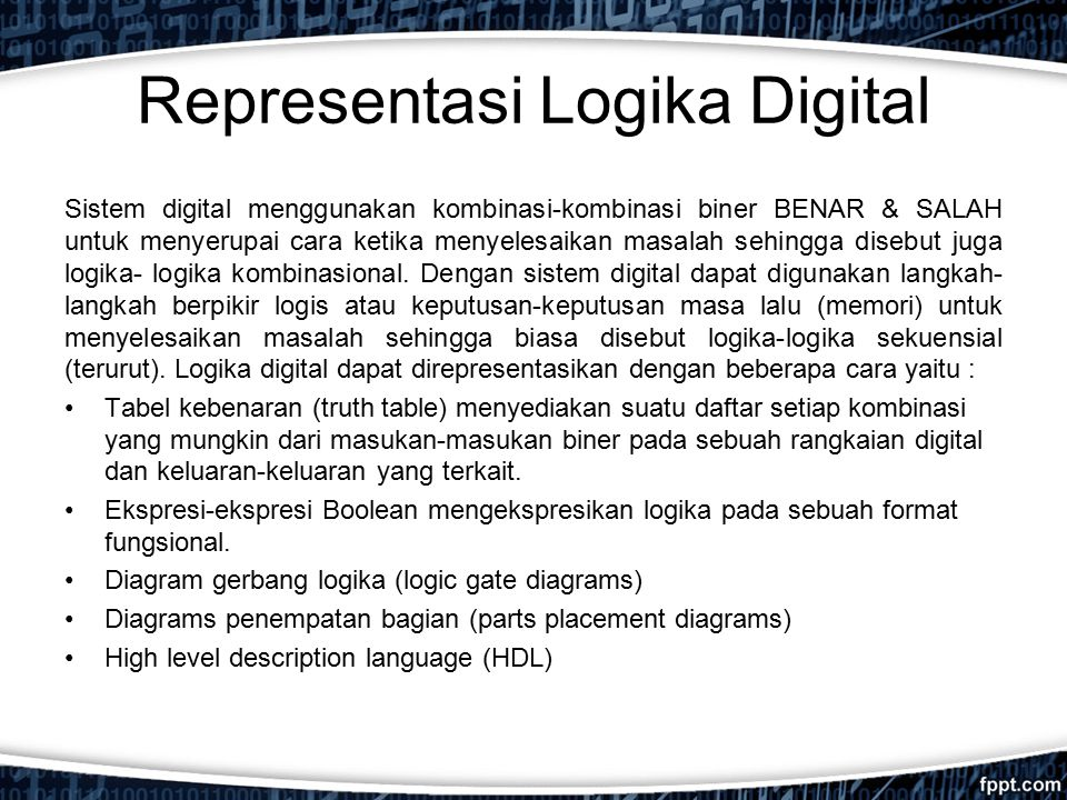 Representasi Logika Digital
