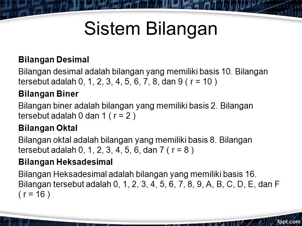 Sistem Bilangan Bilangan Desimal