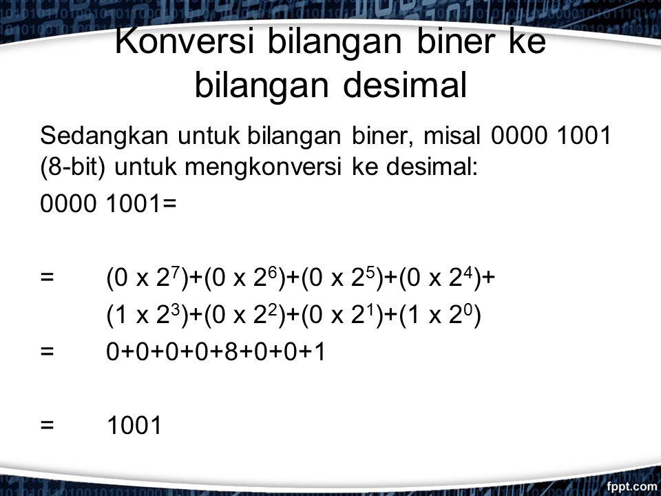 Konversi bilangan biner ke bilangan desimal
