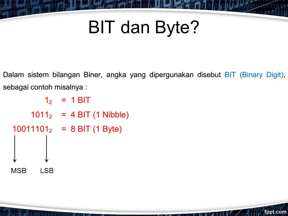 BIT dan Byte MSB LSB