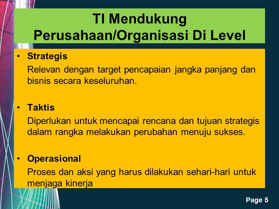 TI Mendukung Perusahaan/Organisasi Di Level