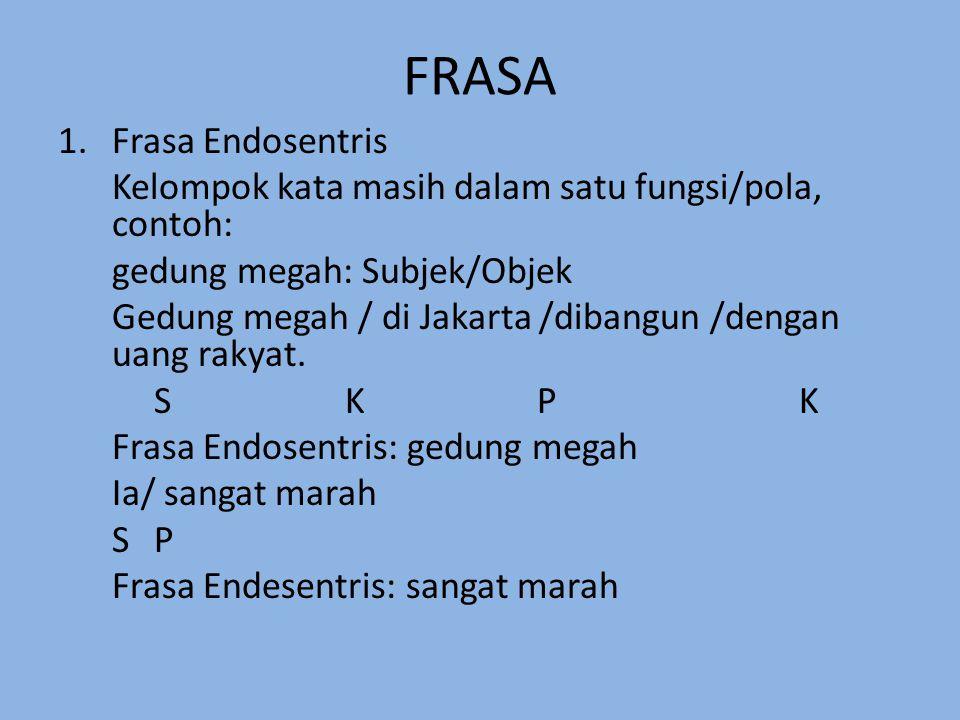 FRASA Frasa Endosentris
