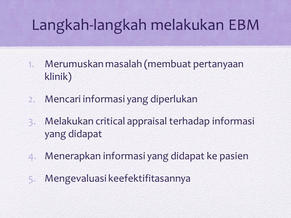 Langkah-langkah melakukan EBM