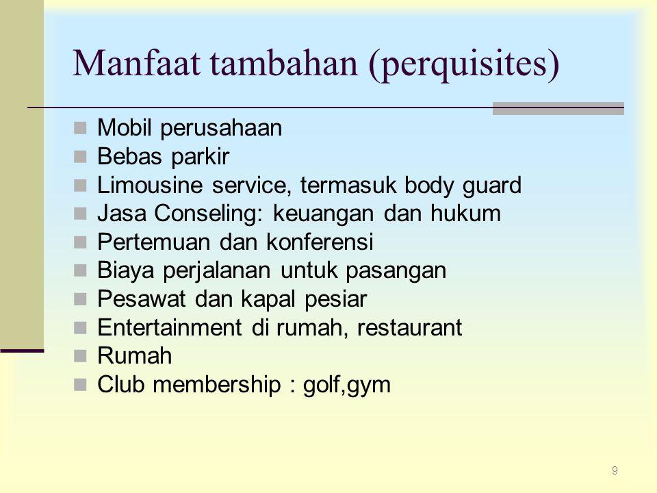 Manfaat tambahan (perquisites)