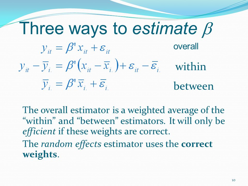 Three ways to estimate b
