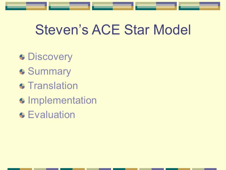 Steven's ACE Star Model