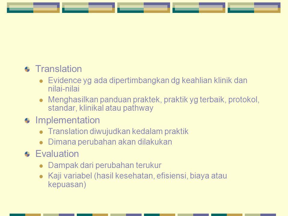 Translation Implementation Evaluation