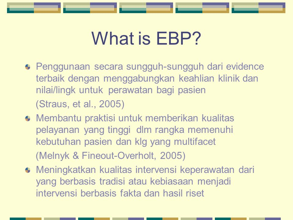 What is EBP