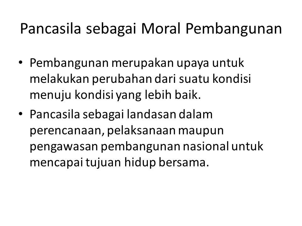 Pancasila sebagai Moral Pembangunan