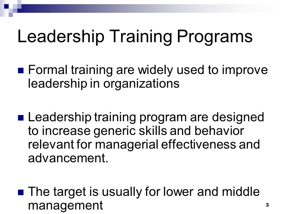 Leadership Training Programs