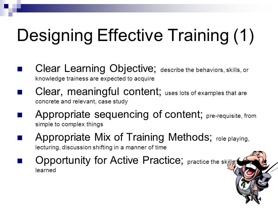 Designing Effective Training (1)