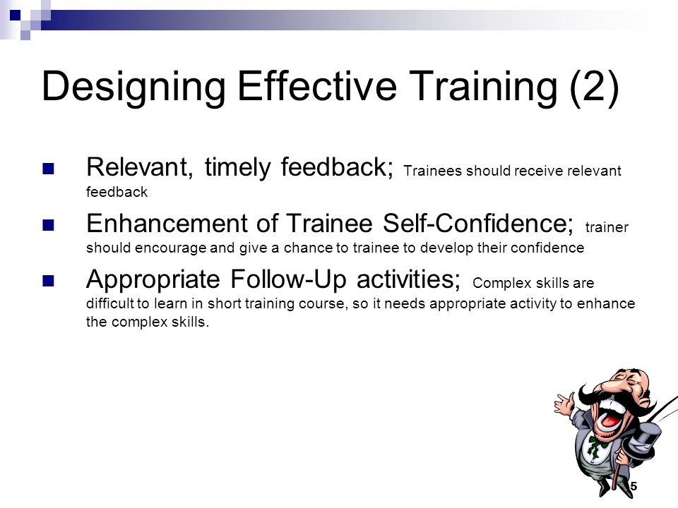 Designing Effective Training (2)