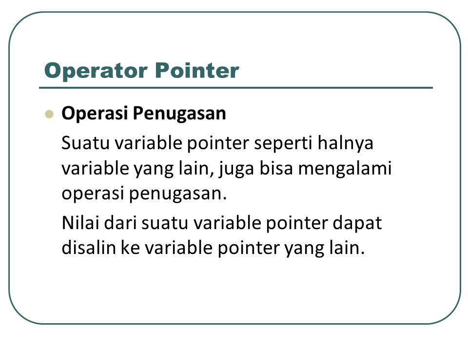 Operator Pointer Operasi Penugasan