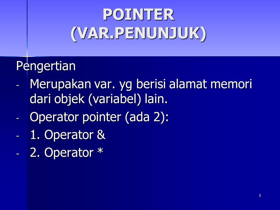 POINTER (VAR.PENUNJUK)