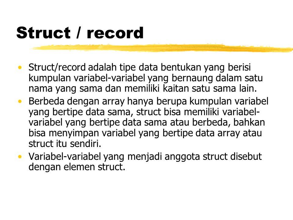 Struct / record