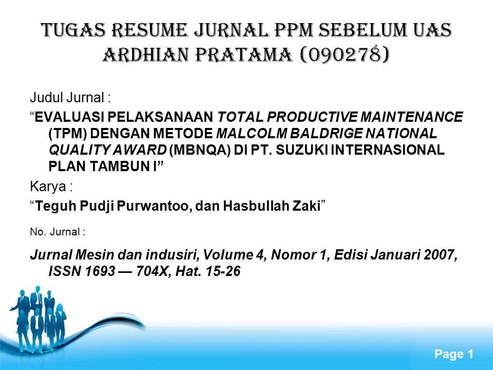 TUGAS RESUME JURNAL PPM SEBELUM UAS ARDHIAN PRATAMA (090278)