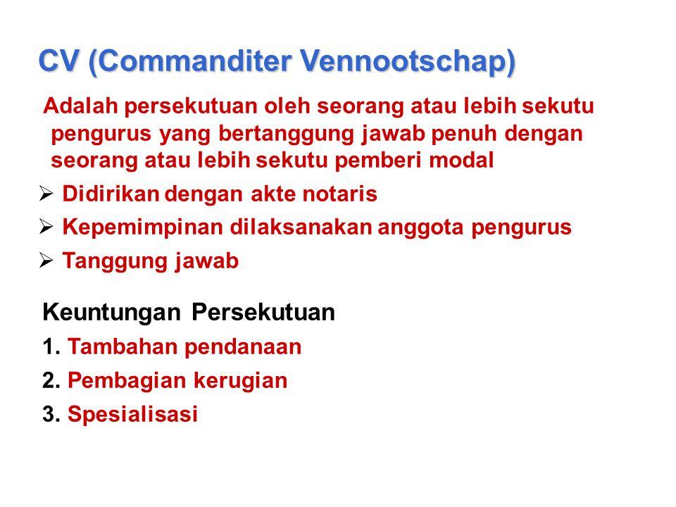 CV (Commanditer Vennootschap)