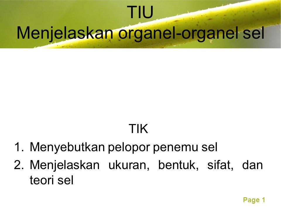 TIU Menjelaskan organel-organel sel
