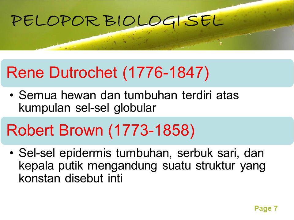 PELOPOR BIOLOGI SEL Rene Dutrochet (1776-1847)