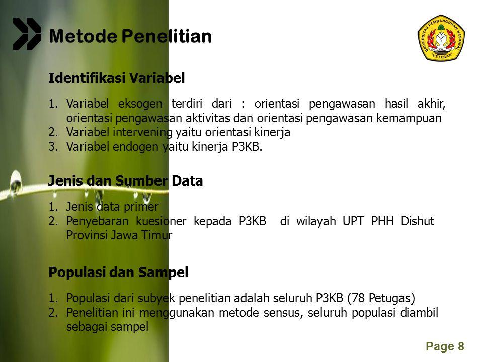 Metode Penelitian Identifikasi Variabel Jenis dan Sumber Data