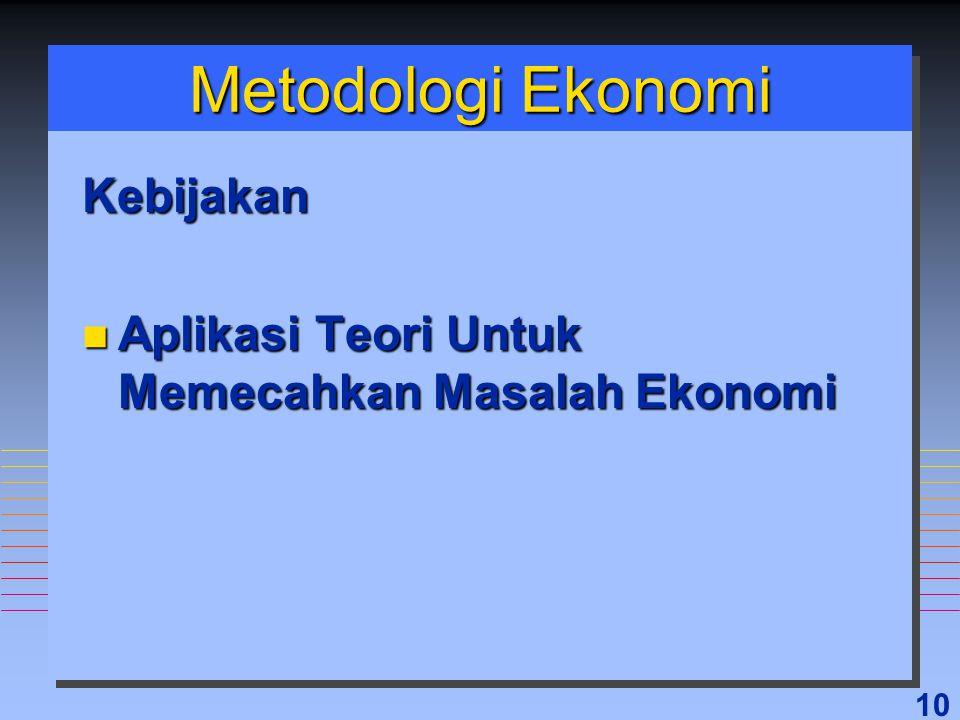 Metodologi Ekonomi Kebijakan