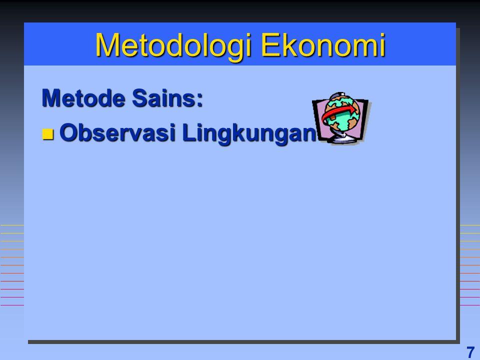 Metodologi Ekonomi Metode Sains: Observasi Lingkungan