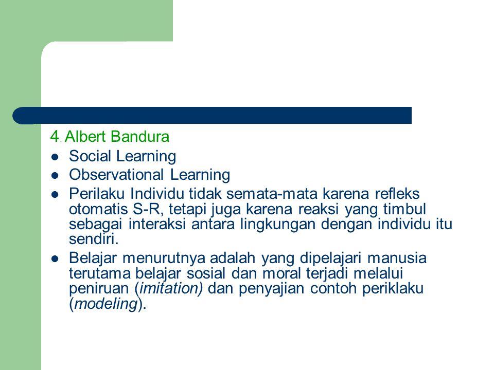 4. Albert Bandura Social Learning Observational Learning