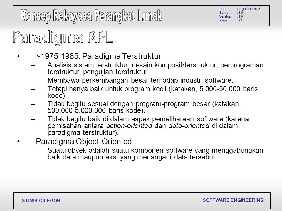 Paradigma RPL ~1975-1985: Paradigma Terstruktur