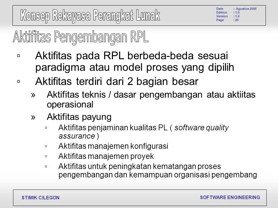 Aktifitas Pengembangan RPL