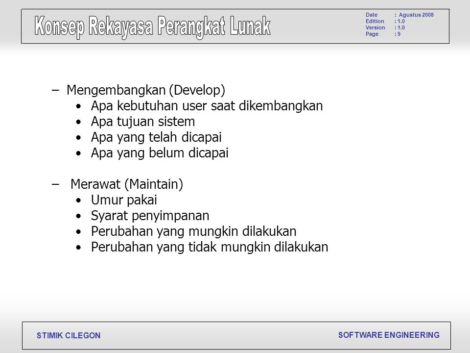 Mengembangkan (Develop)