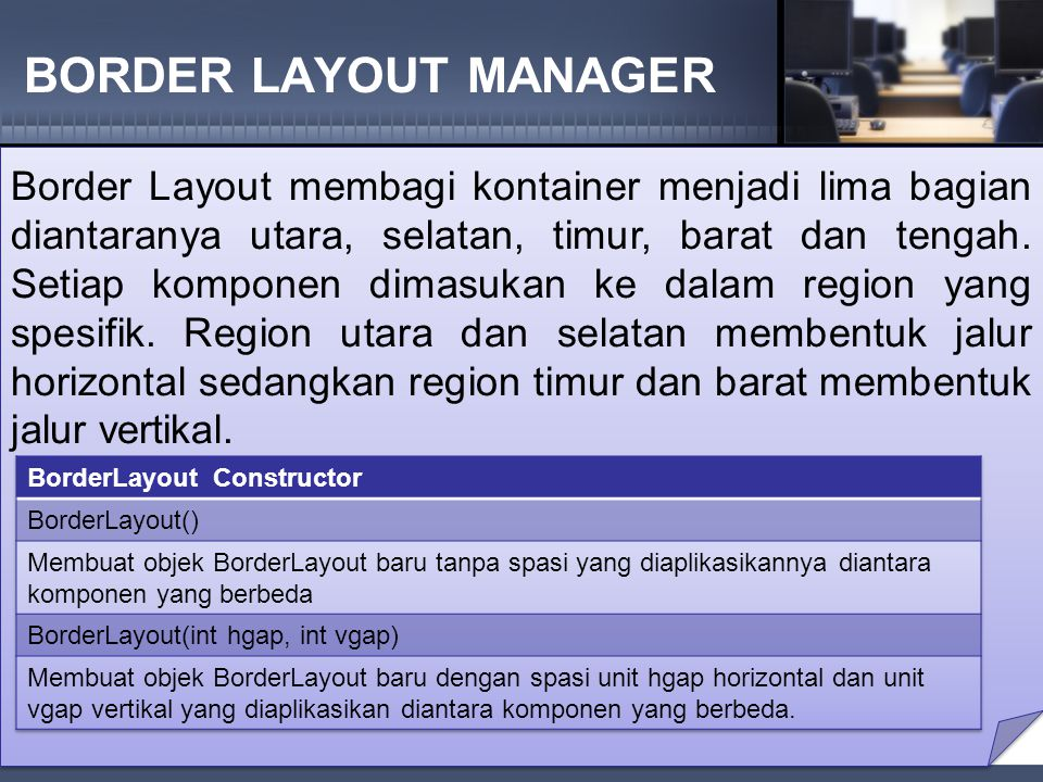 BORDER LAYOUT MANAGER