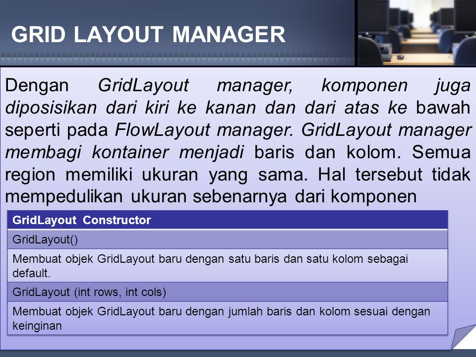 GRID LAYOUT MANAGER
