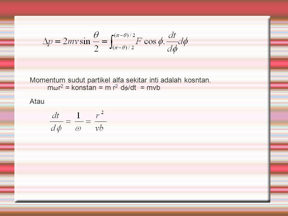mr2 = konstan = m r2 d/dt = mvb