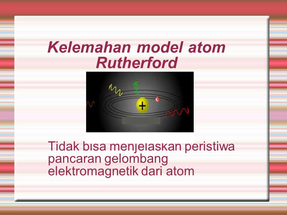 Kelemahan model atom Rutherford