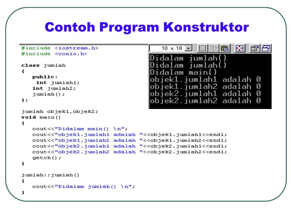 Contoh Program Konstruktor