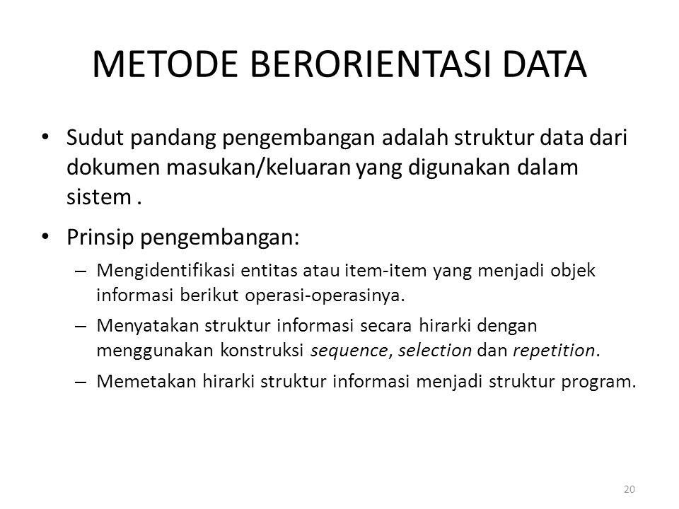 METODE BERORIENTASI DATA