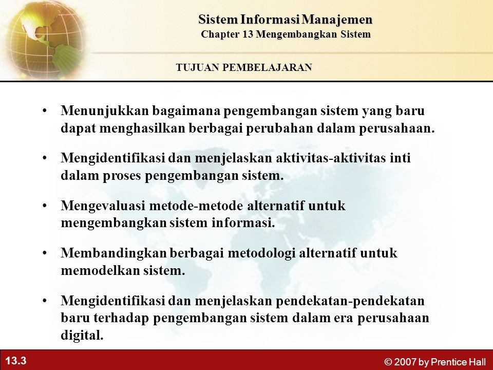 Sistem Informasi Manajemen Chapter 13 Mengembangkan Sistem
