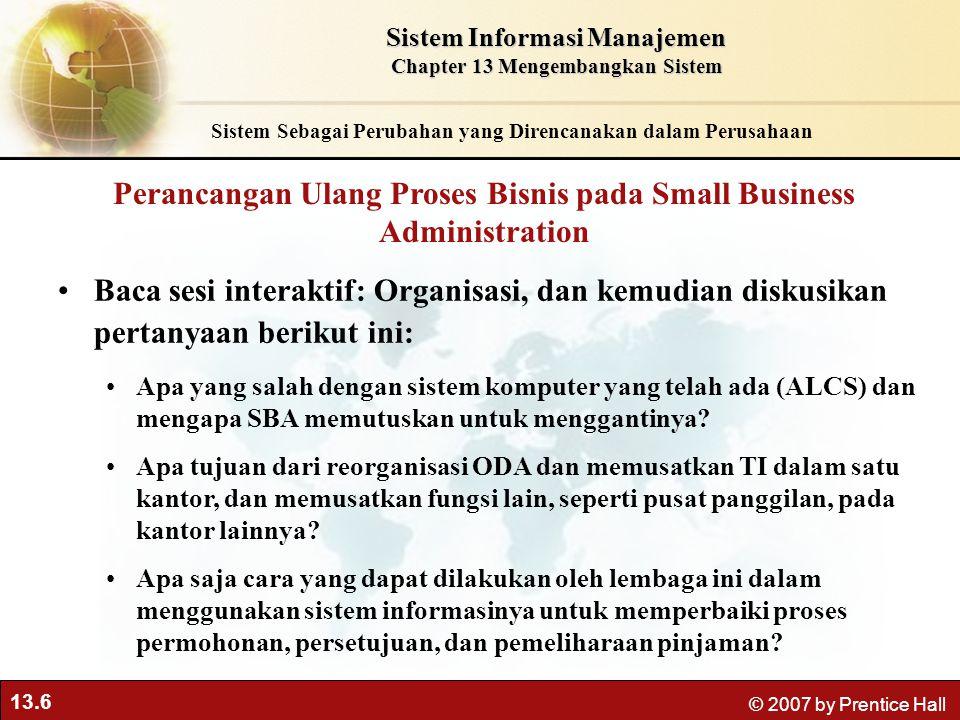 Perancangan Ulang Proses Bisnis pada Small Business Administration