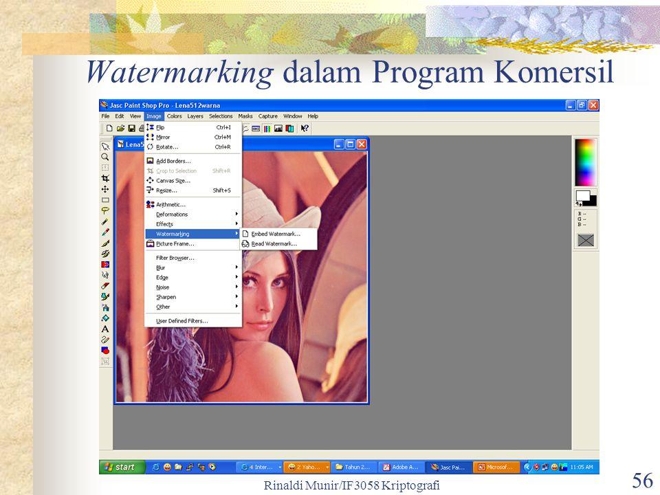 Watermarking dalam Program Komersil