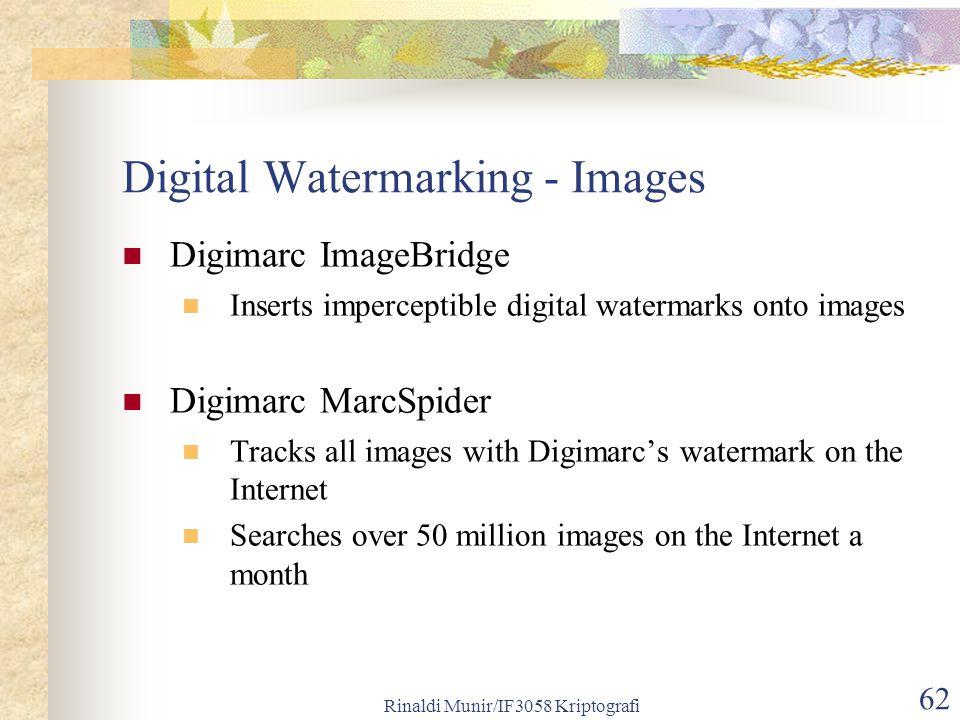Digital Watermarking - Images