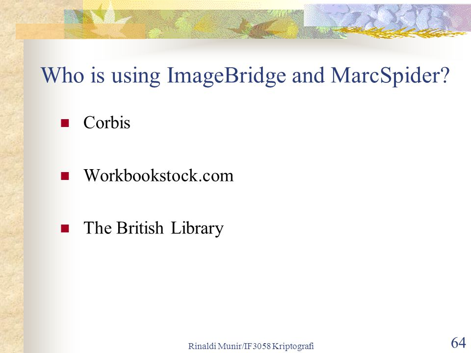 Who is using ImageBridge and MarcSpider