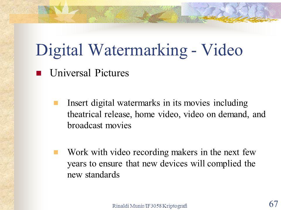 Digital Watermarking - Video