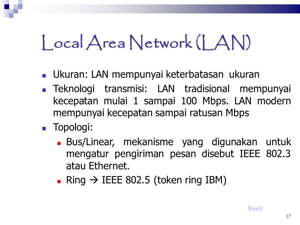 Local Area Network (LAN)‏
