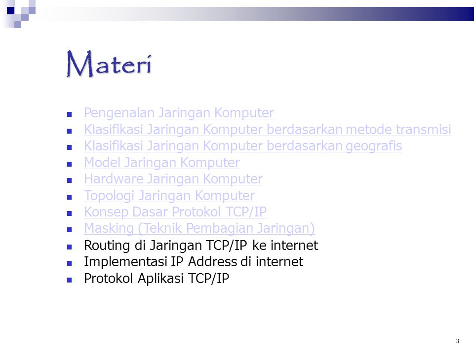 Materi Pengenalan Jaringan Komputer