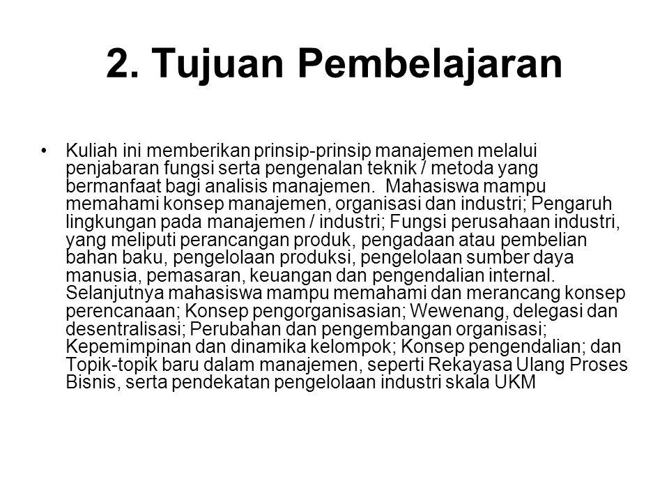 2. Tujuan Pembelajaran