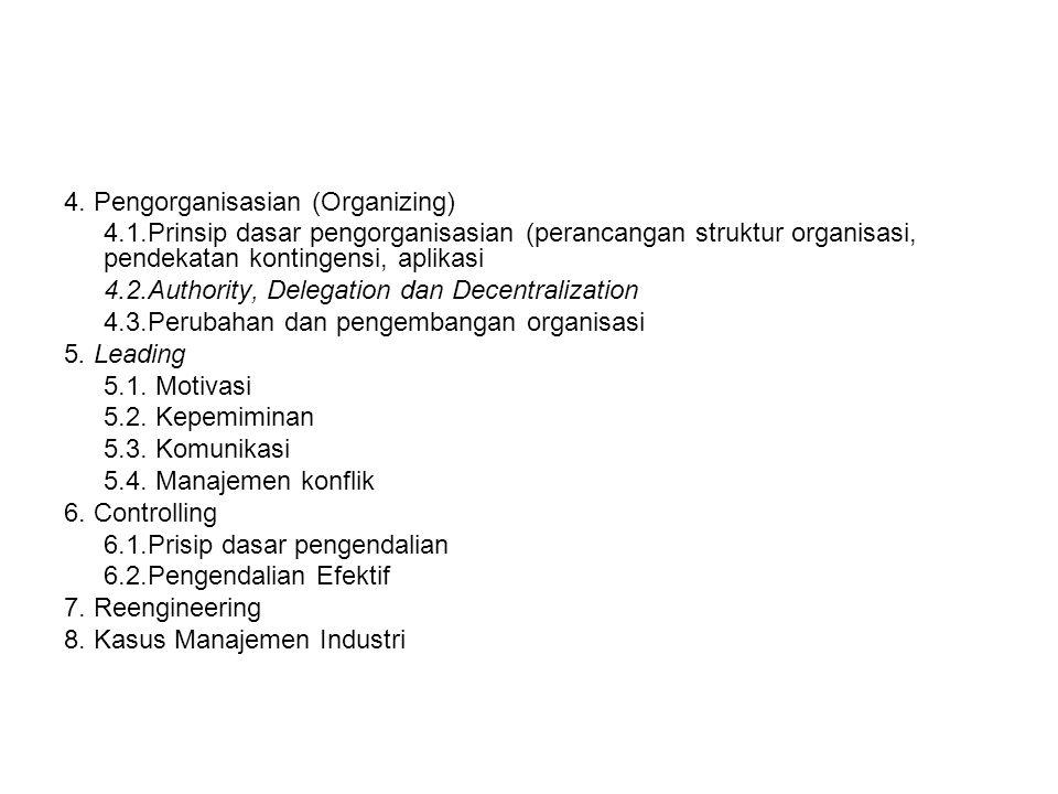4. Pengorganisasian (Organizing)