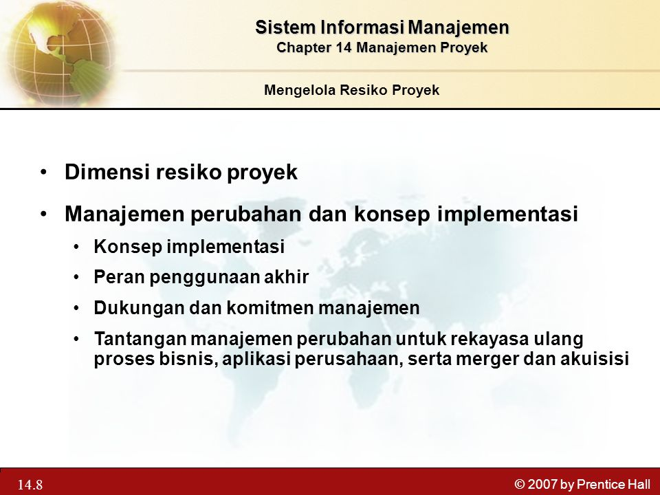 Manajemen perubahan dan konsep implementasi