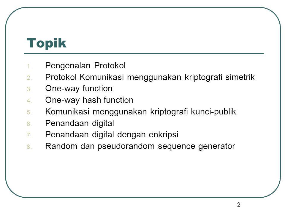 Topik Pengenalan Protokol