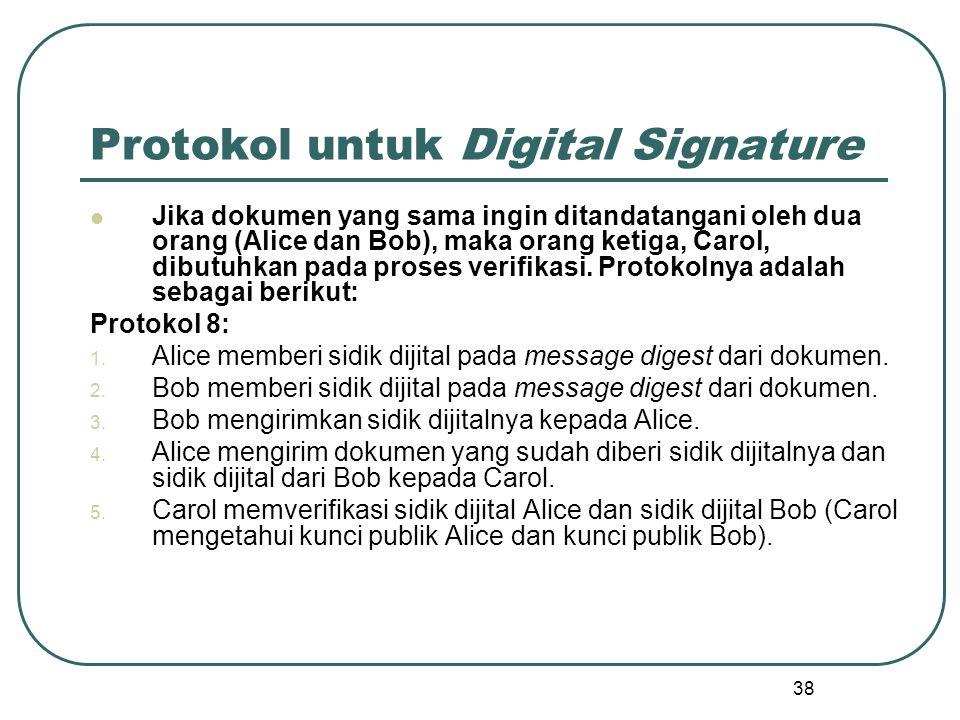 Protokol untuk Digital Signature